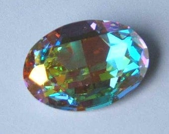 1 SWAROVSKI 4127 Sparkling Oval Crystal AB Fancy Stone 30mm