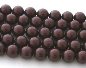 SWAROVSKI Large Hole Crystal Pearl Beads 5811 MAROON