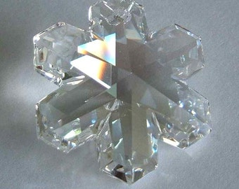 1 SWAROVSKI 6704 SnowFlake Pendant Snow 20mm Crystal MOONLIGHT