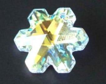1 SWAROVSKI 6704 SnowFlake Pendant Snow 20mm Crystal AB
