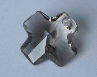 1 SWAROVSKI 6866 Cross Crystal Pendant 20mm BLACK DIAMOND