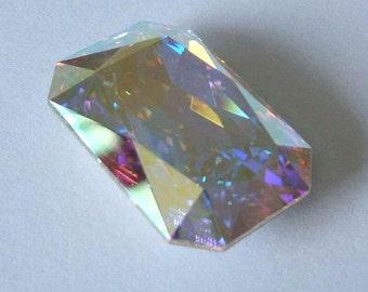 1 SWAROVSKI 4627 Octagon Cabochon Fancy Stone CRYSTAL AB