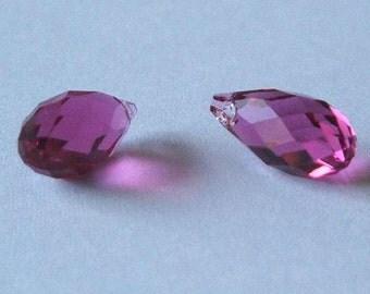 SWAROVSKI 6010 Briolette Crystal Beads FUCHSIA