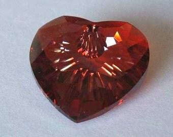1 SWarovSKI 6215 Disco Heart Crystal Bead 18mm RED MAGMA