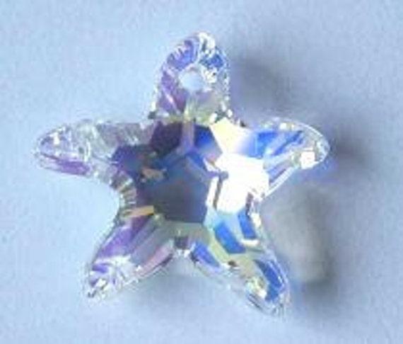 1 SWAROVSKI 6721 STARFISH Crystal AB 16mm Star Sparkle