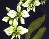 "Orchid Painting,  Fine Art Print, 4""x6"""