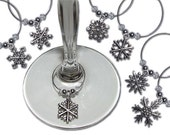 Snowflakes Handmade Wine Glass Charms Christmas Gift Pack