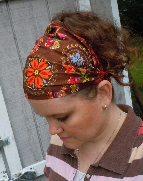 Brown PA Dutch Wide Headband / Headcovering / Head Wrap
