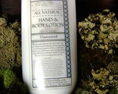 Unscented Hand & Body Lotion, 8 fl oz - 100% Natural