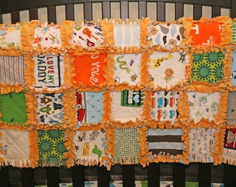 CUSTOM Baby Clothes Crib/Toddler Quilt