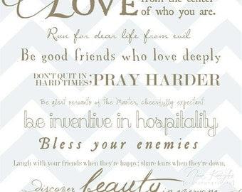 Romans 12:9-17 Art Print