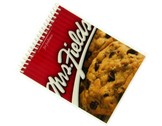MRS. FIELDS COOKIES chocolate chip recycled spiral bound journal notebook