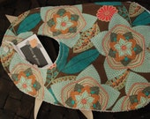 Baby Coral and Turquoise Bib  - Cotton and Terry Velour