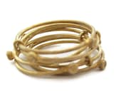Gold Stack Rings , Gold Stackable Rings, Wire  Rings     Slinky Ring - sheriberyl