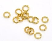 100pcs 5mm Gold Plated Jump Ring - 19 Gauge, Jewelry Finding, Jewelry Making Supplies, Jump Ring, Necklace, Bracelet, Ships from USA - JR14