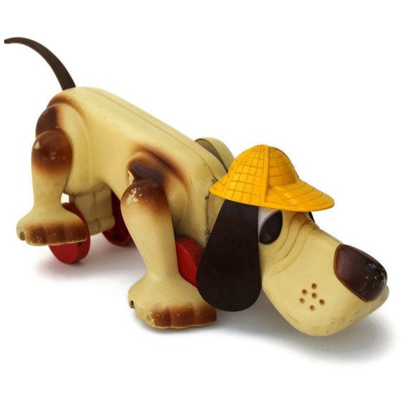 Vintage Digger The Dog Pull Toy