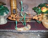 Ceramic Bony Fish Metal Art
