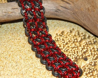 """Chainmaille Bracelet with Rubber """"O""""-rings"""