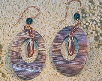 Copper Embossed Earrings