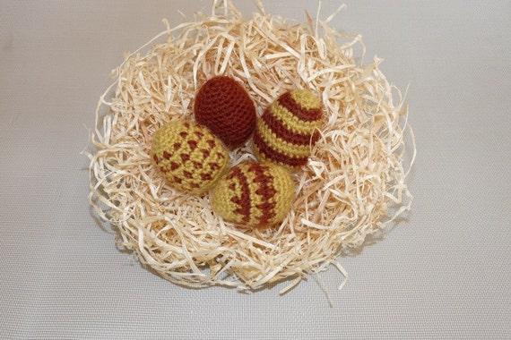 Easter Eggs -  Wool/Alpaca - Mustard/Brown