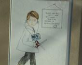 Medical Doctor Physician Framed Art Print