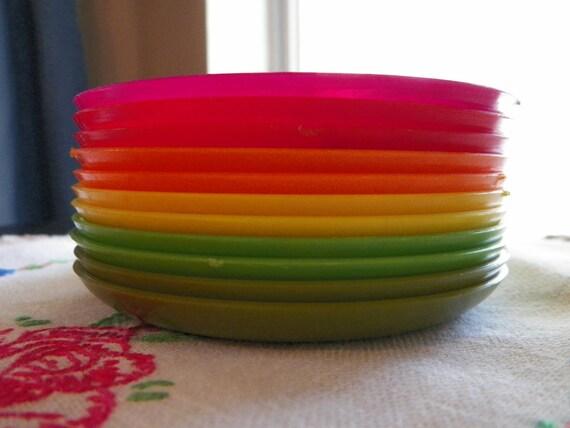 Vintage Rainbow Coaster Set