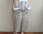Eco friendly natural linen pants