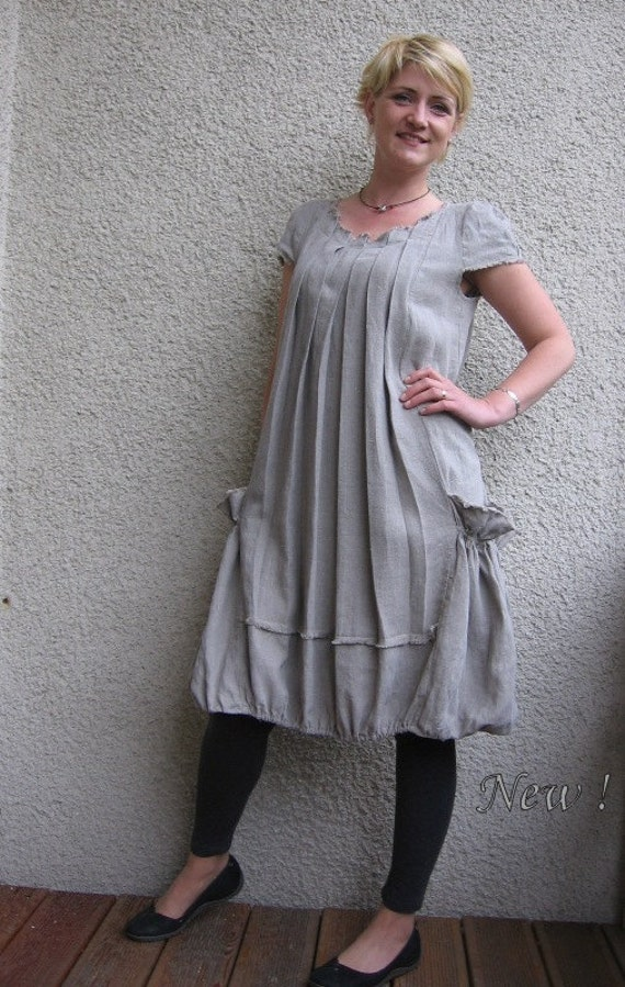 Eco friendly natural linen dress - tunic
