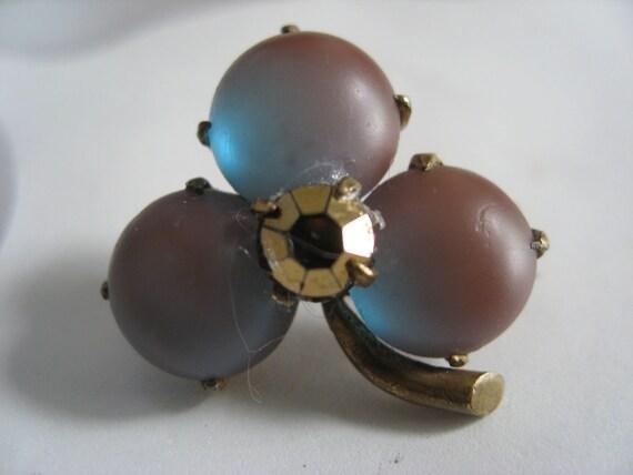 Victorian Saphiret Clover Pin