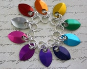 10 Chainmaille Rainbow Scale Stitch Markers