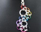 Chainmaille Rainbow Lace Skirt Pendant