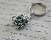 Japanese Dodecahedron Chainmaille Key Chain