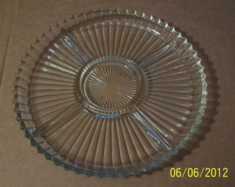 Glass Serving Divided Dish