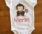 Personalized Monkey T-Shirt or Onesie