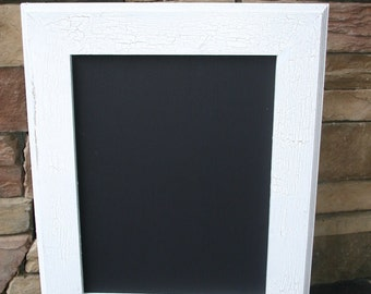 "18x22"" White Vintage Style Frame Chalk Board"