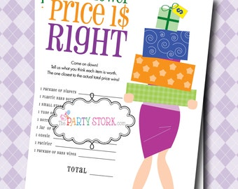 INSTANT DOWNLOAD, The Price is Right Baby Shower Game, PRINTABLE, Many More Fun Games to Choose From, Digital