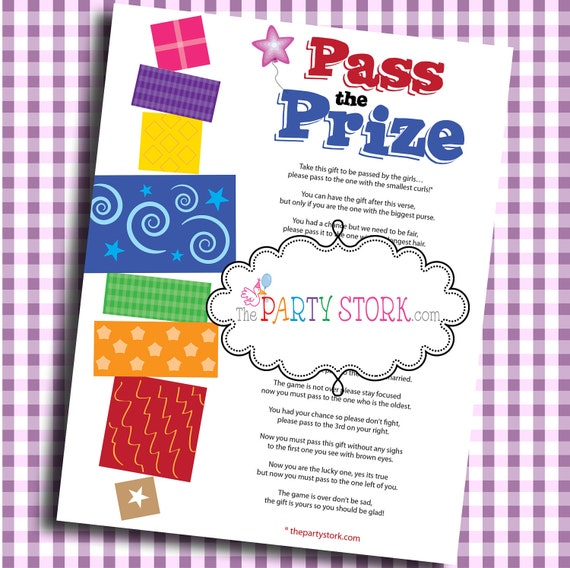 pass the prize fun baby shower game baby or bridal shower more fun
