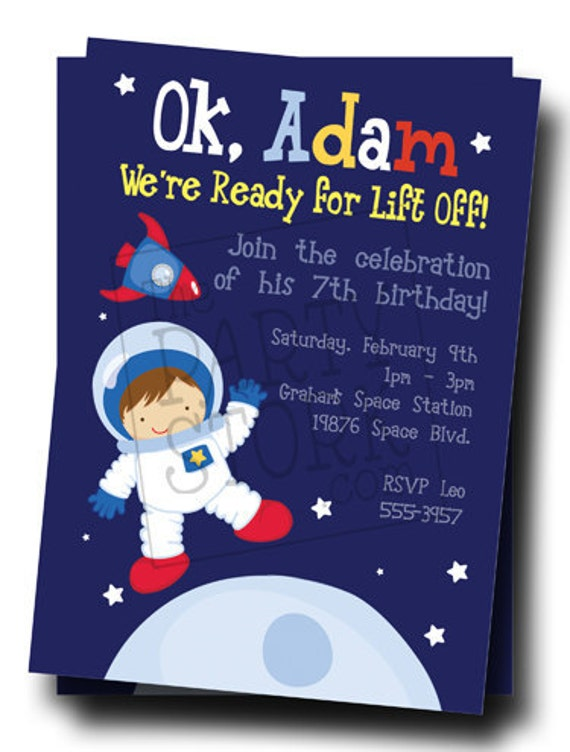 astronaut invitations - photo #7