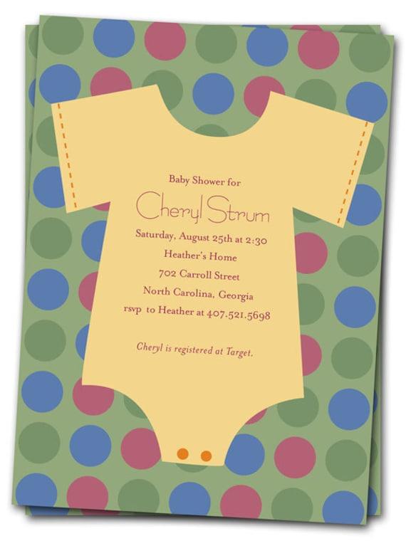 Onesie Baby Shower Invitation was great invitation design