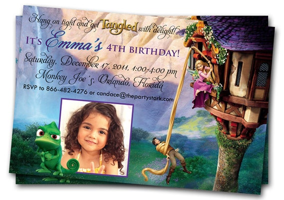 Tangled Birthday Invitations was very inspiring ideas you may choose for invitation ideas