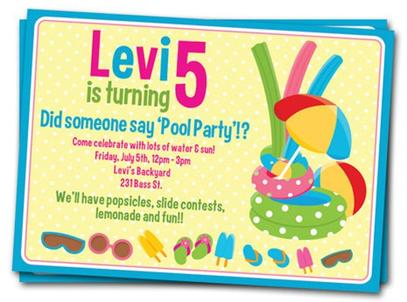 Free Printable Pool Party Invitations Templates – Free Pool Party Invitation Templates