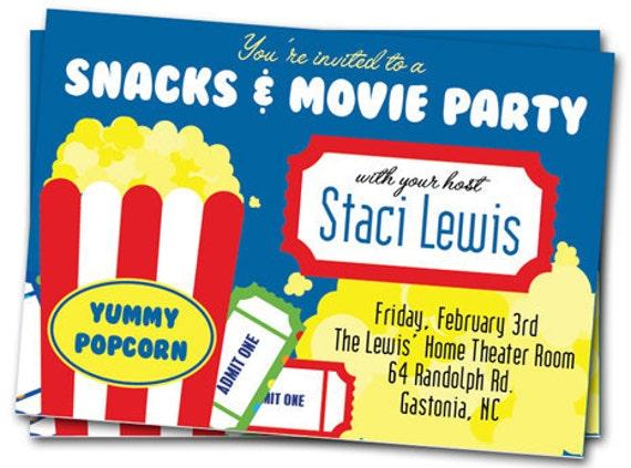 printable movie invitations