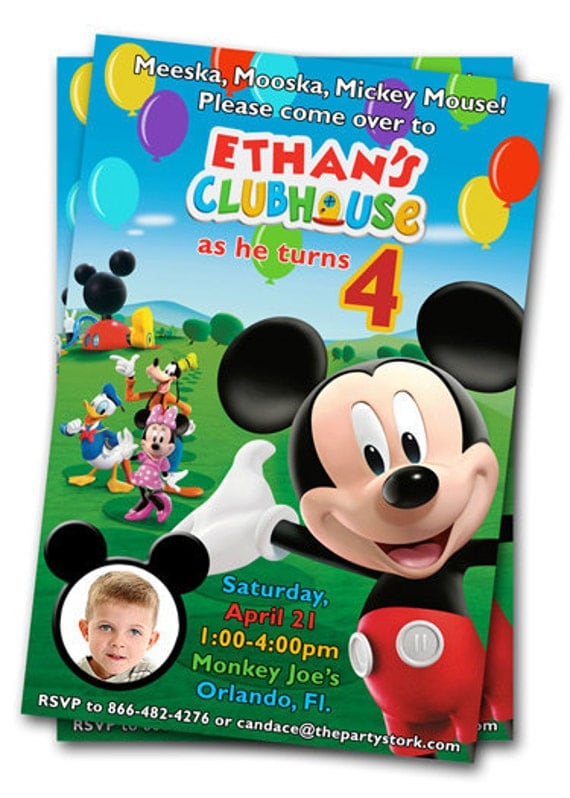 mickey mouse clubhouse birthday invitations printable mickey, Birthday invitations