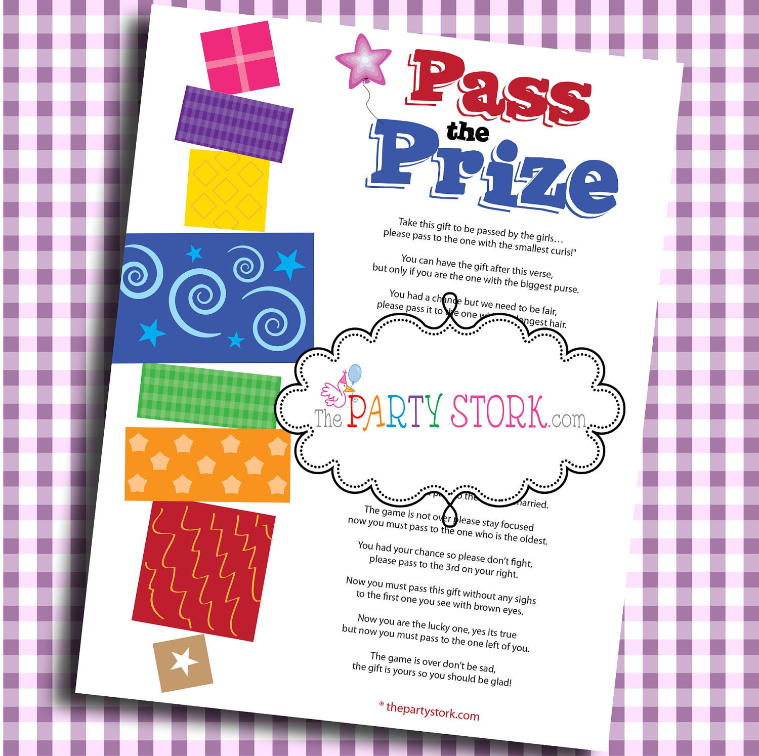 Pass The Prize Fun Baby Shower Game Baby Or Bridal Shower