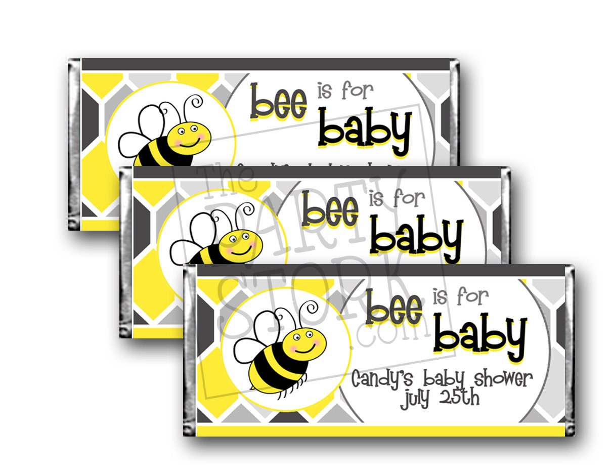 Bee Is For Baby Candy Bar Wrappers Printable Shower Zoom Ptc Cofo Images