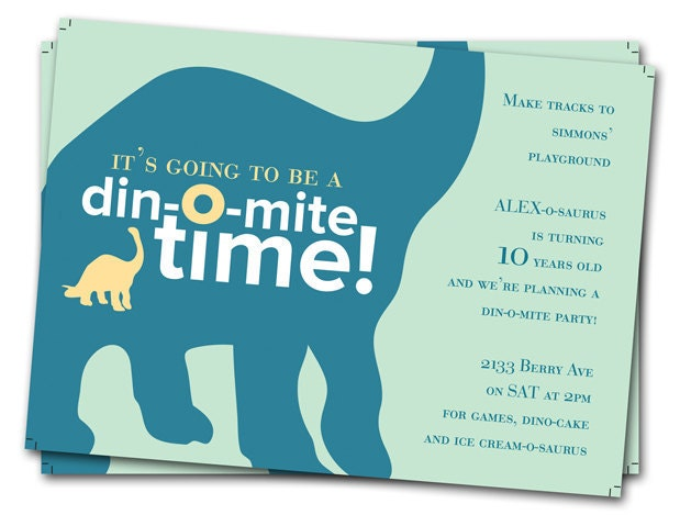 dinosaur birthday invitations: printable boys birthday party, Birthday invitations