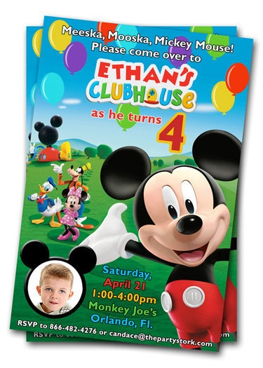 Mickey Mouse Clubhouse Photo Birthday Invitations is great invitations sample