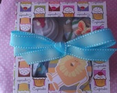 Bodysuit  Cupcake Box Gift Set  - Baby Boy Cupcakes - Baby Cupcake - Unique Gifts...... 4 One Piece