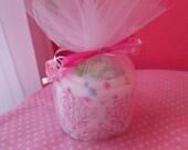 Baby Bib and Burpcloth Cupcake - Baby Shower Gift - Baby Cupcake