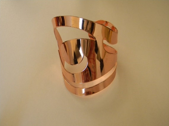 """Reserved for """"C"""", Vintage Cuff, Modern Style, Rose Colored Metal"""